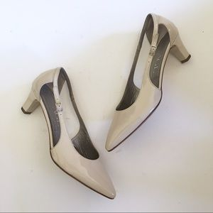 AGL Patent Leather Pointed Nude Heels